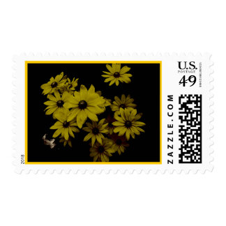 Gorgeous Yellow Daisies Dark, Old World Style Stamps