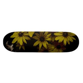 Gorgeous Yellow Daisies Dark, Old World Style Skate Decks