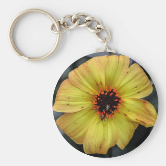 Gorgeous Yellow Flower in Central Park, NYC Keychain