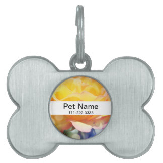 Gorgeous yellow rose flower.  Floral fine art. Pet ID Tag