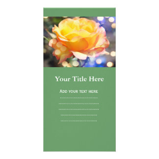 Gorgeous yellow rose flower.  Floral photography Card