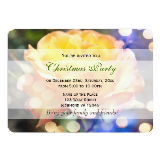 Gorgeous yellow rose flowers Christmas party Announcements