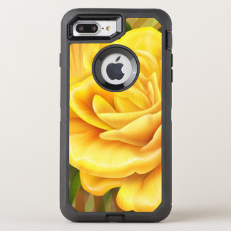 gorgeous yellow rose OtterBox defender iPhone 8 plus/7 plus case