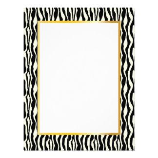 Gorgeous Zebra Border Stationery - Gold