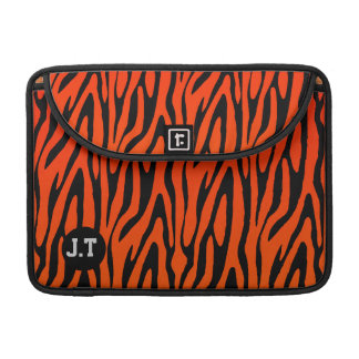 Gorgeous Zebra Skin Stripes Pattern Monogram Sleeve For MacBook Pro