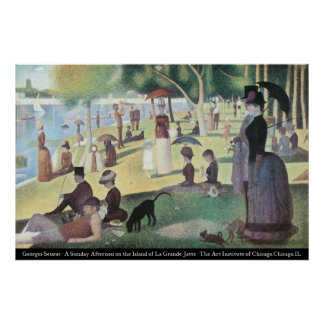 Gorges Seurat - Sunday Afternoon Poster