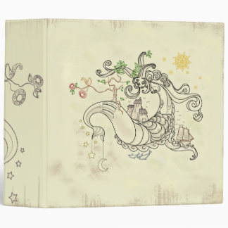 Gorgon Earth Mythology Color Cream 3 Ring Binders
