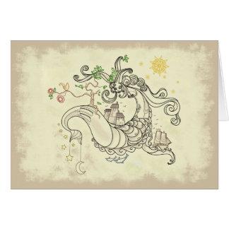 Gorgon Earth Mythology Color Cream Greeting Cards