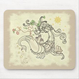 Gorgon Earth Mythology Color Cream Mouse Pad