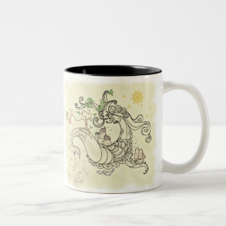 Gorgon Earth Mythology Color Cream Mugs