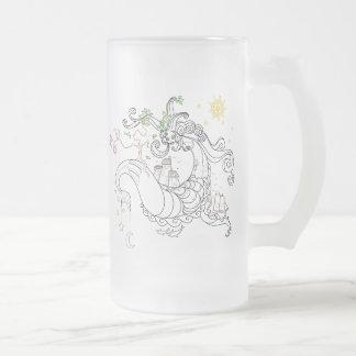 Gorgon Earth Mythology Lines Color Coffee Mug