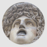 Gorgon romano antiguo - mitología pegatina redonda