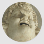 Gorgon romano antiguo pegatina redonda