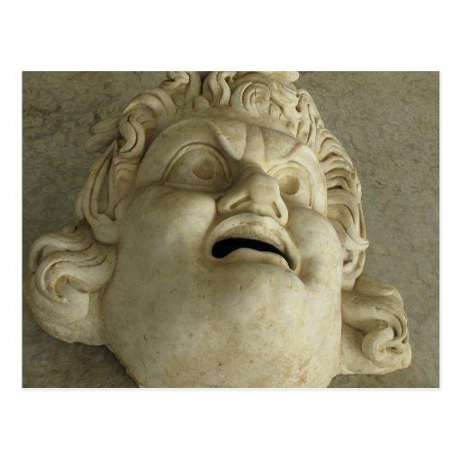 Gorgon romano antiguo postal
