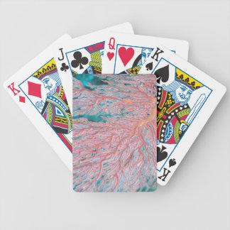 Gorgonian coral 3 bicycle poker cards