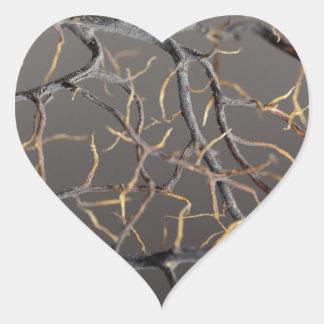 Gorgonian coral heart sticker