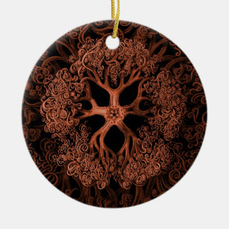 Gorgonocephalidae Orange Ceramic Ornament