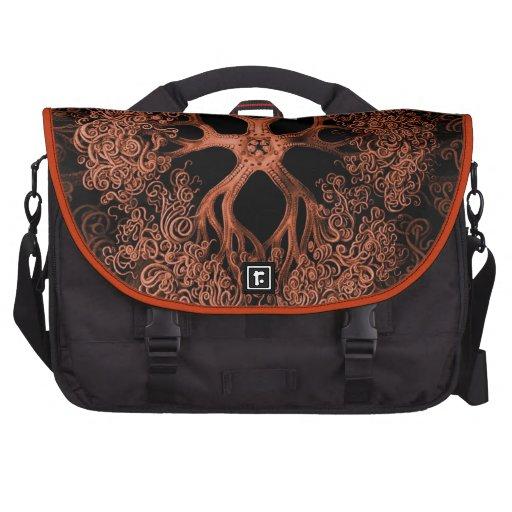 Gorgonocephalidae Orange Laptop Computer Bag