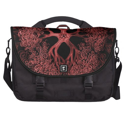 Gorgonocephalidae Red Laptop Bags