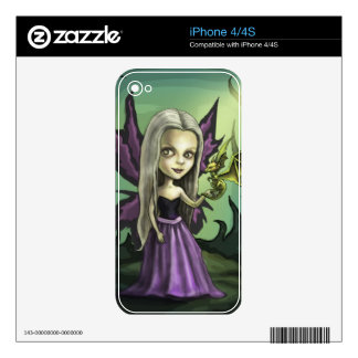 Gorhic Fairy and Baby Dragon iPhone 4 Skins
