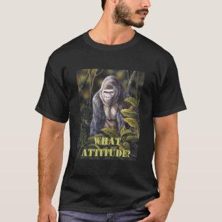 """Gorila """"actitud"""" T Playera"""