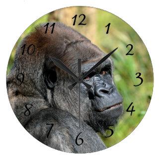 Gorila adulto reloj redondo grande