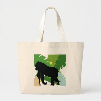 Gorila africano bolsa de tela grande