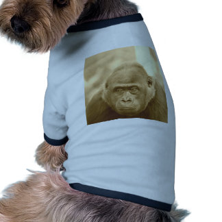 gorila amistoso, sepia camiseta con mangas para perro
