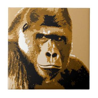 Gorila Azulejo Cuadrado Pequeño
