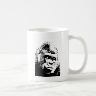Gorila blanco negro del arte pop taza