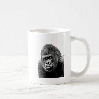 Gorila blanco negro taza de café