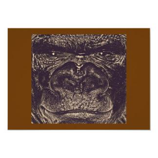"""Gorila, cierre encima de la cara (gfaceacc) invitación 5"""" x 7"""""""