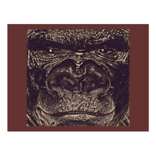 Gorila, cierre encima de la cara (gfaceacc) tarjetas postales