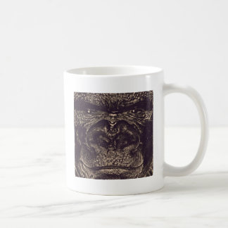 Gorila, cierre encima de la cara (gfaceacc) taza de café