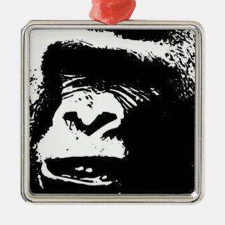Gorila Days Adorno Navideño Cuadrado De Metal