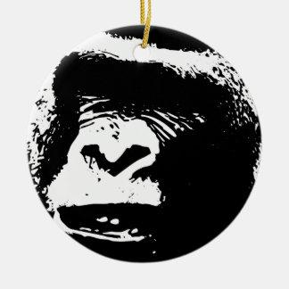 Gorila Days Adorno Navideño Redondo De Cerámica