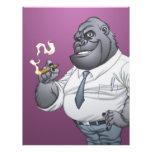 Gorila de Boss del hombre de negocios del cigarro Flyer A Todo Color
