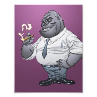 Gorila de Boss del hombre de negocios del cigarro  Arte Fotográfico