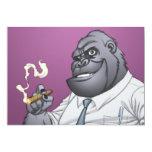 Gorila de Boss del hombre de negocios del cigarro Invitación 12,7 X 17,8 Cm