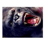 Gorila de griterío postal