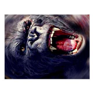 Gorila de griterío postales