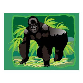 Gorila de la selva postal
