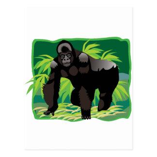 Gorila de la selva postales