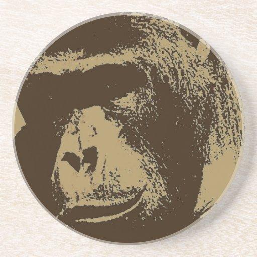 Gorila de la sepia posavasos cerveza