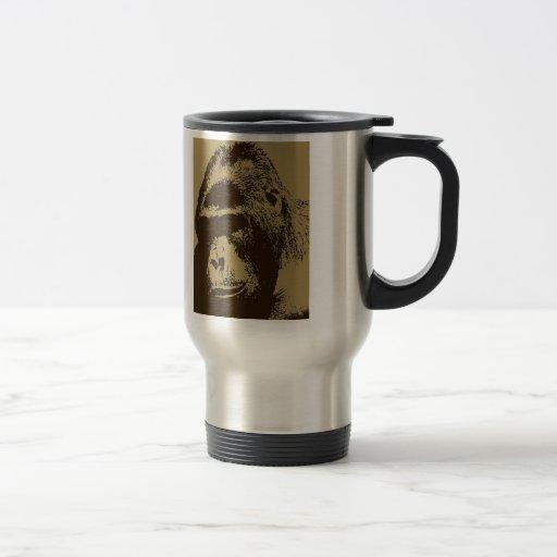 Gorila de la sepia taza de viaje de acero inoxidable