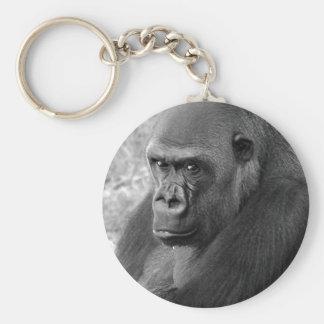 Gorila de la tierra baja llavero personalizado
