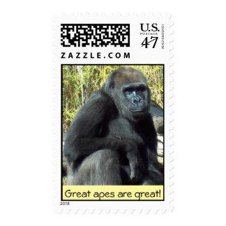 Gorila de la tierra baja timbre postal