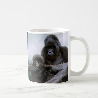 Gorila de montaña de los GRANDES MONOS y gorila Taza Clásica