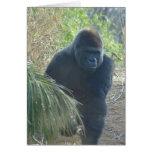 Gorila de montaña magnífico felicitación