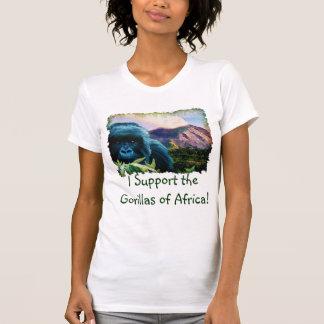 Gorila de montaña y camiseta del partidario del poleras
